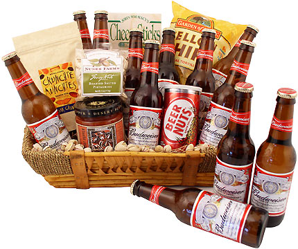 American Classic Budweiser Beer Gift Basket