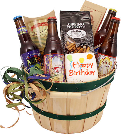 Birthday Beer Bushel Gift Basket