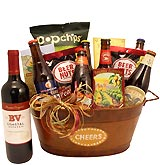 Cheer Brew Bucket - Beer & Wine Gift Basket