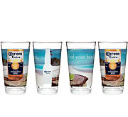 Corona Find Your Beach Pint Glasses