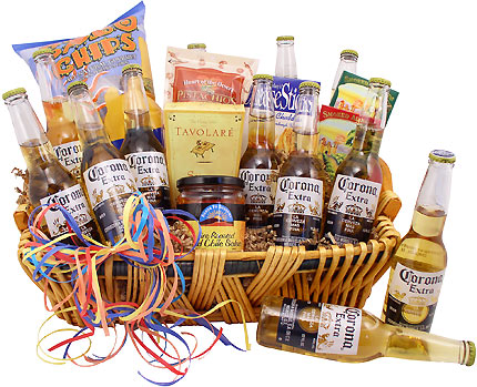 Corona Beer Gifts – Including Gift Baskets, Boxes & T Shirts.