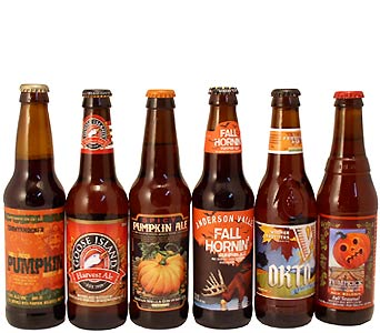 Fall Seasonal Six Pack Beer Bottles