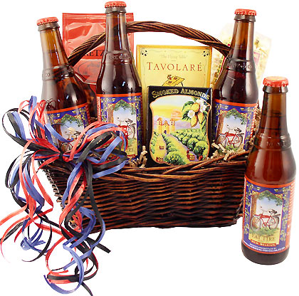 Fat Tire Four Pack Gift Basket