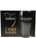 Guinness Signature Harp Tulip Beer Glasses 2 Pack Gift Box