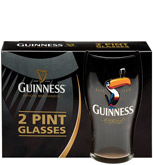 Guinness Signature Toucan Tulip Glasses 2 Pack Gift Box