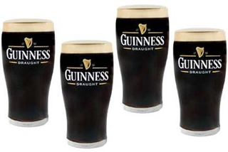 Guinness Tulip Pint Glasses