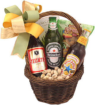 Imports and Munchies Beer Gift Basket
