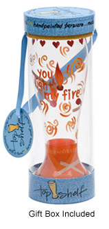 Light My Fire Hand painted Pilsner Glass in Gift Box