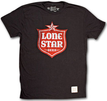 Lone Star Retro Vintage Black T Shirt
