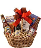 Microbrew Times Gift Basket With 3 Different Microbrews