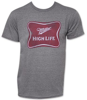 Miller High Life Heather Gray Logo T Shirt