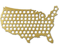 Beer Cap Maps  - United States and State Maps