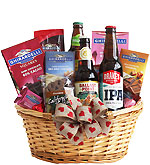 Valentine Beer Time Gift Basket