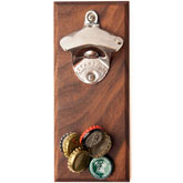 Walnut Cap Catcher Bottle Opener